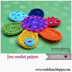 Crochet Flowers Easy Do you like free crochet patterns Crochet Puff Flower, Crochet Flower Tutorial, Knitted Flowers, Crochet Crafts, Crochet Yarn, Easy Crochet, Crochet Projects, Double Crochet, Single Crochet