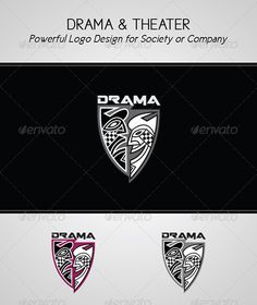 Theater Company; Drama Society — Vector EPS #dramatic society #acting profession • Available here → https://graphicriver.net/item/theater-company-drama-society/3239684?ref=pxcr