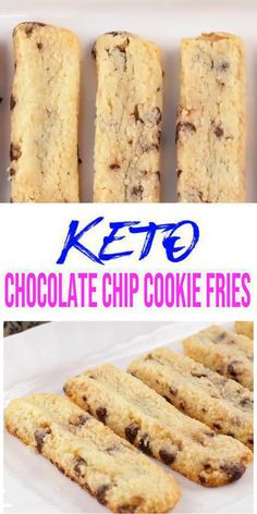 5 Ingredient Keto Chocolate Chip Cookie Fries – BEST Low Carb Recipe – Breakfast – Treat – Desserts – Snack For Ketogenic Diet – Gluten Free – Sugar Free - Paleo Rezepte Homemade Chocolate Chips, Gluten Free Chocolate Chip Cookies, Low Carb Chocolate, Chocolate Chip Recipes, Ketogenic Diet Meal Plan, Keto Meal, Low Carb Deserts, Low Carb Recipes, Healthy Recipes