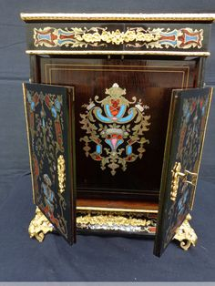 Napoléon III - Big writing desk in Boulle style marquetry of napoleon iii period