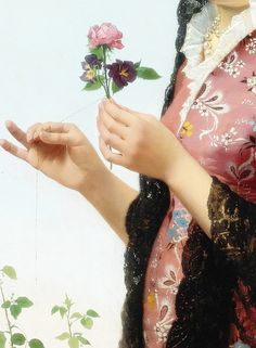 Thoughts of love, Detail. by Filippo Indoni (1842 - 1908)