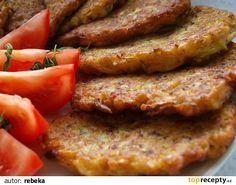 Cuketové bramboráky recept - TopRecepty.cz Meatloaf, Sausage, Bacon, Treats, Breakfast, Recipes, Sweet Like Candy, Morning Coffee, Goodies