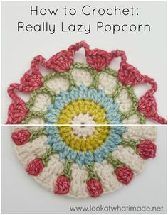 Diy Crafts - Learn how to crochet the Really Lazy Popcorn Stitch version with this fantastic step-by-step photo tutorial. via freecrochettuts Crochet Afghans, Grannies Crochet, Crochet Stitches Patterns, Stitch Patterns, Knitting Patterns, Stitch Crochet, Crochet Chart, Crochet Basics, Crochet Motif