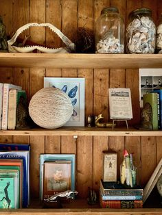 My Stay at Sea Roost in Montauk Small Beach Houses, Decorating Bookshelves, Ocean House, Grey Gardens, Roller Shades, Exposed Wood, Wood Ceilings, River House, Maine House