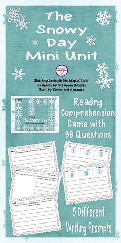 The Snowy Day Mini Unit- reading comprehension game and writing prompts