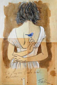 """Saatchi Art Artist Loui Jover; Drawing, """"to anyone......."""" #art"""