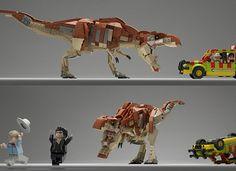 Lego Ideas - Jurassic Park Gate. Lego Jurassic Park. Alan Grant, Ian Malcom, T-Rex.