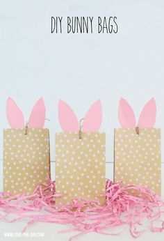 DIY Bunny Craft Bags by MichaelsMakers Lindi Haws of Love The Day