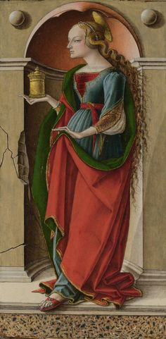 ❤ - CARLO CRIVELLI (1435 – 1495) -  Saint Mary Magdalene. National Gallery, London.