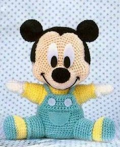 We continue our Amigurumi recipes without slowing down. You Will not Find Anywhere Organic Toy Amigurumi Baby Mickey Mouse For You Amigurumi lovers are on… Crochet Baby Toys, Crochet Amigurumi Free Patterns, Cute Crochet, Crochet For Kids, Crochet Animals, Crochet Dolls, Crocheted Toys, Newborn Crochet, Baby Knitting