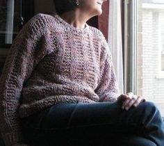 Cozy Weekend Sweater: Free knitting pattern. The ultimate garment of relaxation, this chunky Cozy Weekend Sweater is so comfortable, you'll find yourself longing to throw it on at the end of every workday.
