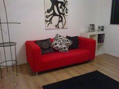 Red sofa covers