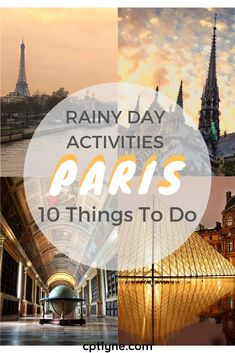 Are you visiting Paris on a rainy day? Worry not there is still plenty of things to do in Paris when it rains! The French capital is a travel destination full of surprise, once you visit it you understand why it is such a popular destination and that's also the case it gives Paris a peculiar charm. From exploring the secret passages to visiting the catacombs and eating delicious food here are 10 things to do when it rains in Paris to add to your bucket list! #Paris Paris travel tips | Paris…