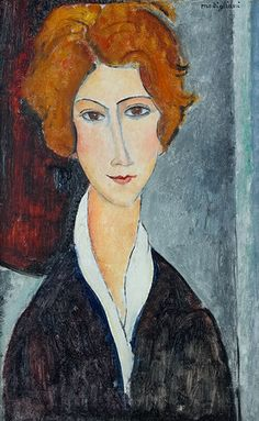 Amedeo Modigliani, Modigliani Portraits, Modigliani Paintings, Famous Portraits, Paintings Famous, Famous Artists, Famous Portrait Artists, L'art Du Portrait, Abstract Portrait