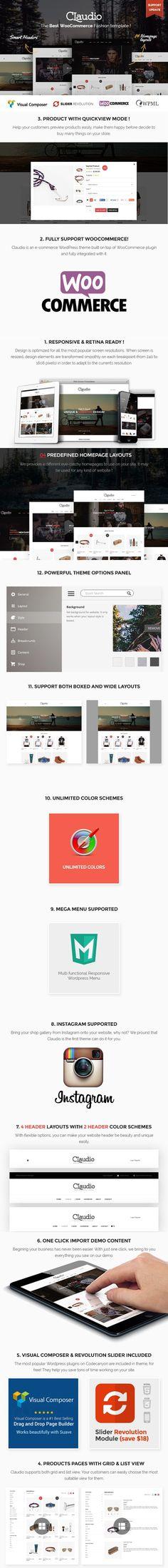 Claudio - Modern Ecommerce Theme. Photoshop Plugins. $59.00