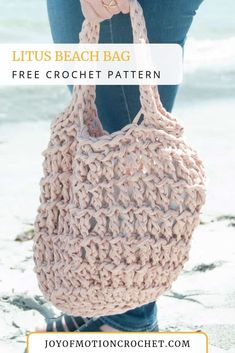 Lovely Crochet Beach Bag Pattern, Summer Crochet Tote Pattern, Big Bag Crochet Pattern, Large Market Tote Pattern, Easy Bag Pattern. Litus Beach Bag Crochet Pattern. Crochet beach bag easy. Crochet beach bag tutorial quick. Crochet beach bag tote. Crochet beach handbag. Crochet beach bag fast. #crochet #beachbag #summer #crochetbag #crocheting Crochet Beach Bags, Bag Crochet, Crochet Market Bag, Crochet Clutch, Quick Crochet, Crochet Handbags, Crochet Purses, Free Crochet, Chunky Crochet