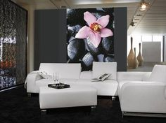 Orchid lover? One drop of colour for your living room! www.fototapet.ro #paris#art#artist#architect#architecture#design#designer#decor#decorate#interior#space#perspective#angle#dinning#with#a#view#eifel#tower#chair#table#colouring#texture#materials#atmosphere#therapy#colourterapy #orchid#lover#flower