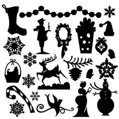 free christmas svg files for cricut - Yahoo Image Search Results Silhouette Images, Silhouette Portrait, Silhouette Design, Free Silhouette, Silhouettes, Theme Noel, Noel Christmas, Christmas Images, Silhouette Cameo Projects