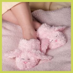 Dream Time Inc Warm Whiskers Small Microwaveable Bunny Slippers with Lavender Bunny Slippers, Cute Slippers, Fluffy Socks, Barbie, Creature Comforts, Everything Pink, Girly Girl, Girly Things, Girly Stuff