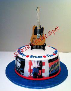 Bruce Springsteen Themed Birthday Cake