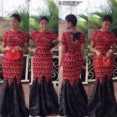 Lace and Tafetta ~African fashion, Ankara, kitenge, African women dresses, African prints, African men's fashion, Nigerian style, Ghanaian fashion ~DKK