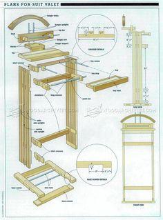 #1367 Suit Valet Stand Plans - Woodworking Plans