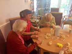 Creating fun with our hands - Riversway Care Home Bristol