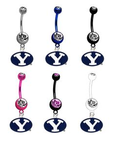 Brigham Young Cougars NCAA College Belly Button Navel Ring - Pick Your Color