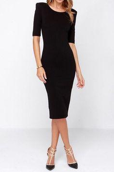 48 Best Black midi dress images  3c982eabda8a