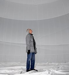 Christo inside the Big Air Package