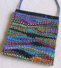 woven beaded tapestry bag
