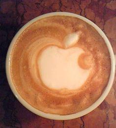 Coffee art #coffee #art #latte #applemac art café
