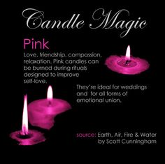 pink candle #pinkcandle #candlemagic