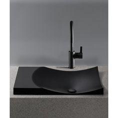 Toto Waza Noir inch Cast Iron Drop In Bathroom Sink, Available in Various Colors, Black Drop In Bathroom Sinks, Modern Bathroom Sink, Bathroom Interior, Modern Sink, Bathroom Mirrors, Washroom, Bathroom Fixtures, Pedestal Sink, Vessel Sink