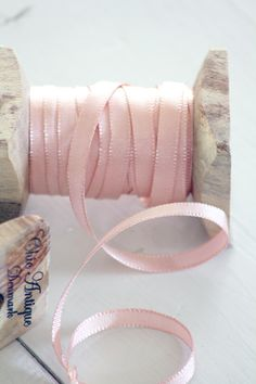 via Rachael Powell Washi, Shabby Chic Blog, Flower Boutique, Sewing Notions, Haberdashery, Ribbon Bows, Pink Ribbons, Beaded Lace, Pastel Pink