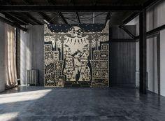 """The Birth of Venus"" ceramic mosaic on Behance"