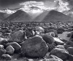 Mount Williamson, Sierra Nevada from Manzanar, California c. 1944 by ANSEL ADAMS