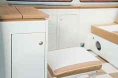 VW T2 bay interior in cream and oak - Dubteriors