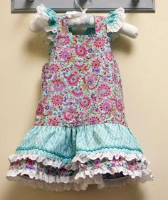 Party frock sewing pattern  LUCY LOU sizes 1 to 10 years 2 versions included