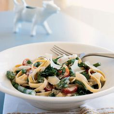 Fresh and flavorful, this pasta primavera chock full of vegetables makes a lovely entrée for spring. A combination of equal parts milk...