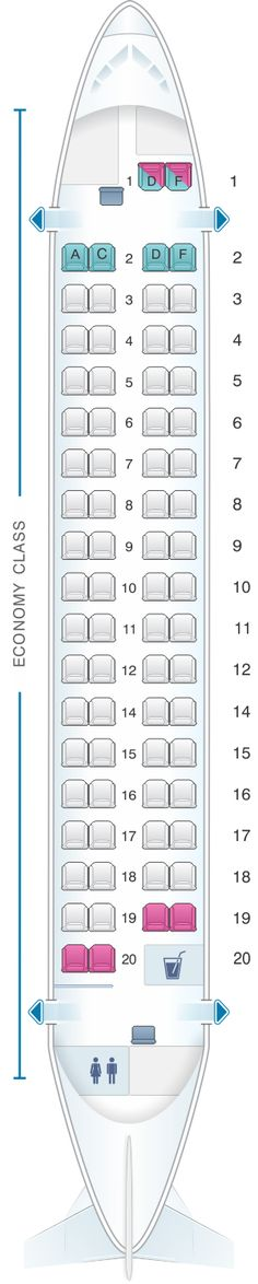 Seat Map Kingfisher Airlines Aerospatiale ATR72 500 72PAX