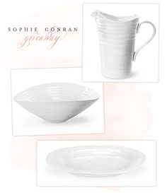 Sophie Conran: Our Wedding Dishes:)