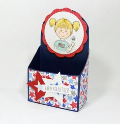 Patriotic Round Top Box