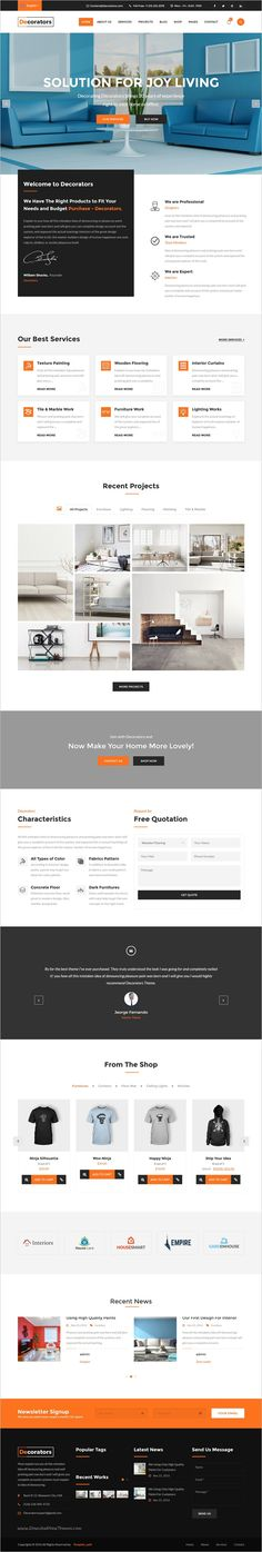 Interior Design Moto CMS HTML Template