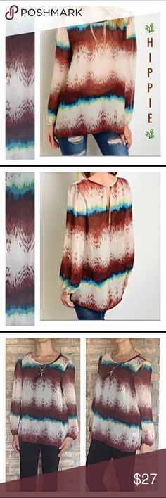 Selling this Hippie chic relaxed fit flowy peasant top SML on Poshmark! My username is: shoestyling. #shopmycloset #poshmark #fashion #shopping #style #forsale #Tops