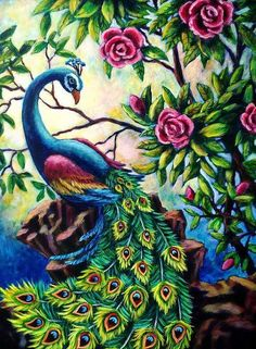 peacock painting - Google Search