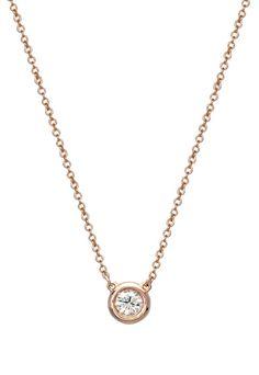 Rose Gold Diamond Pendant, .20 TCW - Necklaces & Pendants - Women