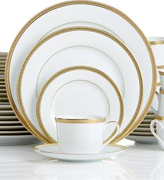 Charter Club Grand Buffet Gold 40-Pc. Service for 8 (Only at Macy's) - $199.99