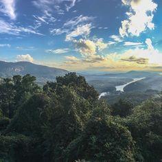 Reposting @koheephoto: Lake Lure from Chimney Rock. . #lakelurenc #lakelure #visitnc #chimneyrock #clouds #hiking #nature #northcarolina #appalachianmountains #hiking #instagood #instadaily #mountains #fishing @visitnc #smokeymountains #autumn #fineart @chimneyrocknc