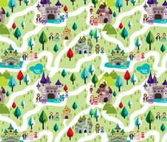 Royal Kingdom fabric by id_designs on Spoonflower - custom fabric